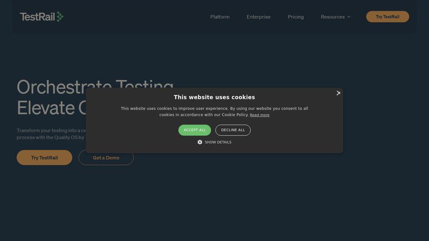 TestRail Landing Page