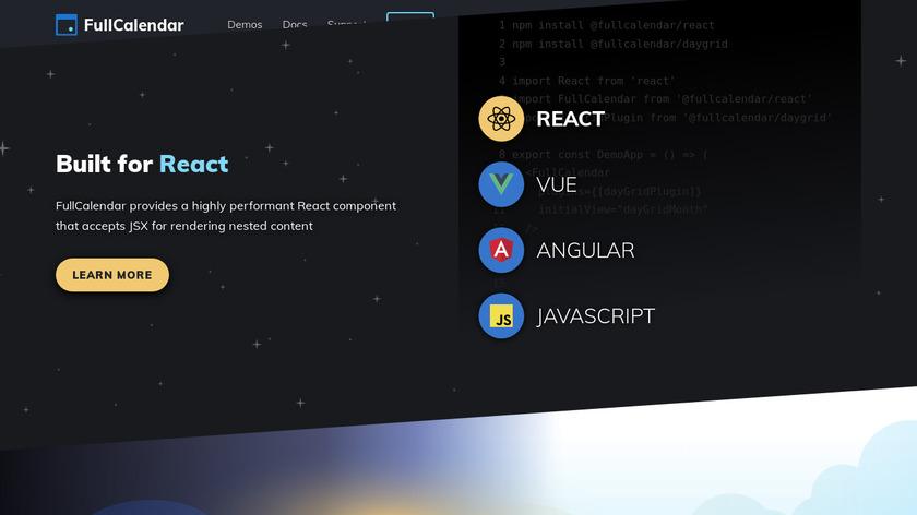 FullCalendar Landing Page