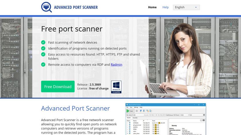 Advanced Port Scanner Landing Page