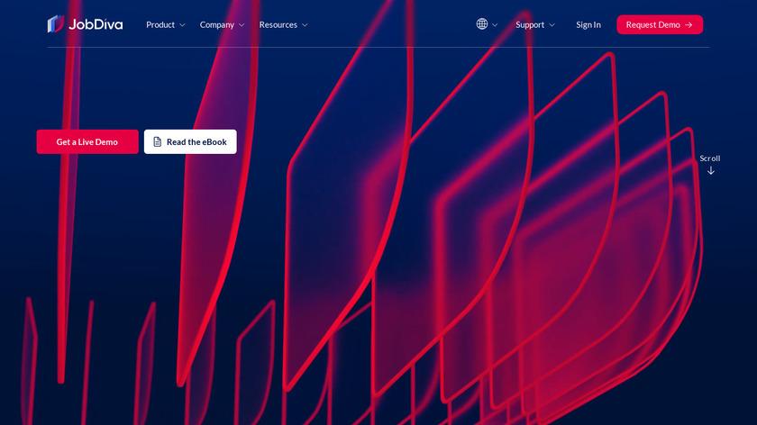 JobDiva Landing Page