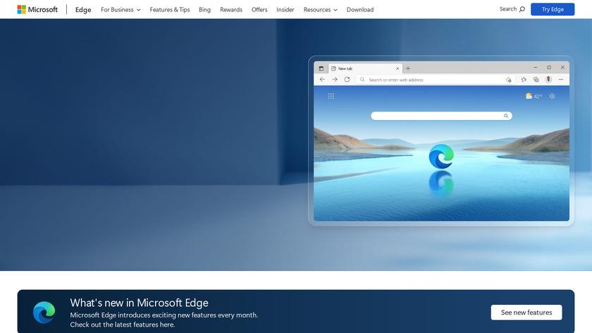 Microsoft Edge Landing Page