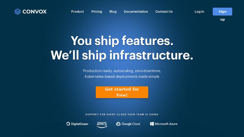 Convox Landing Page