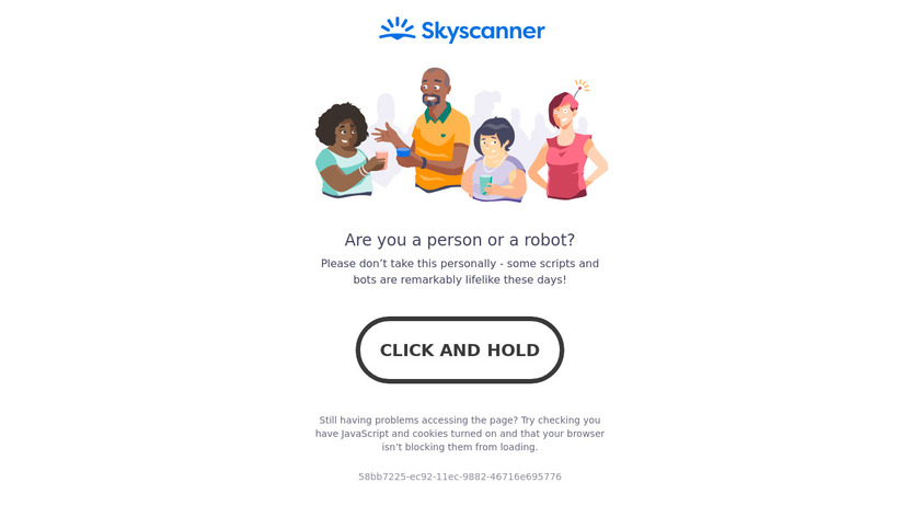 Skyscanner Landing Page
