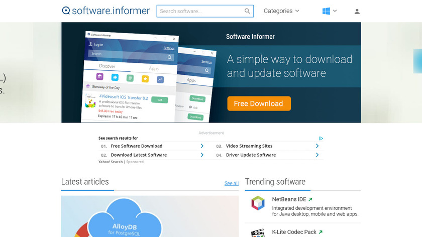 Software Informer Landing Page