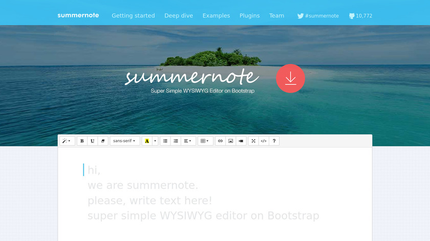 Summernote Landing Page