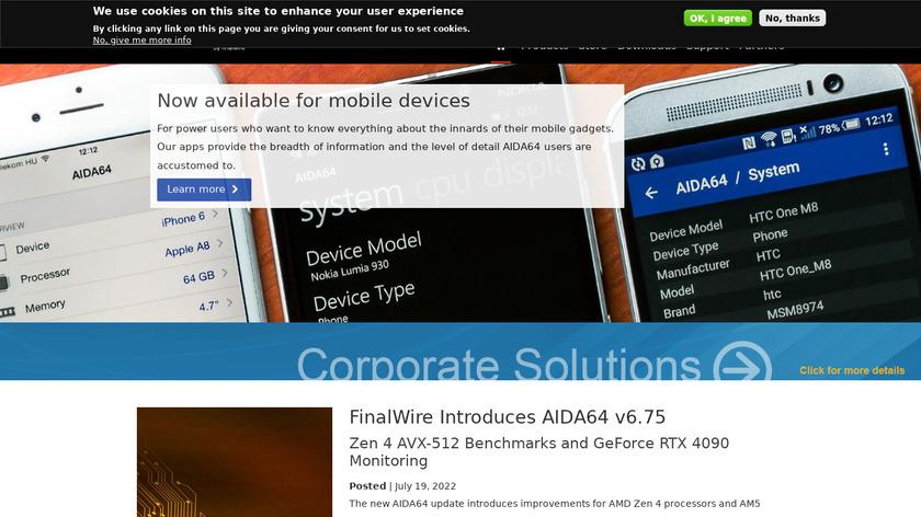 AIDA64 Landing Page