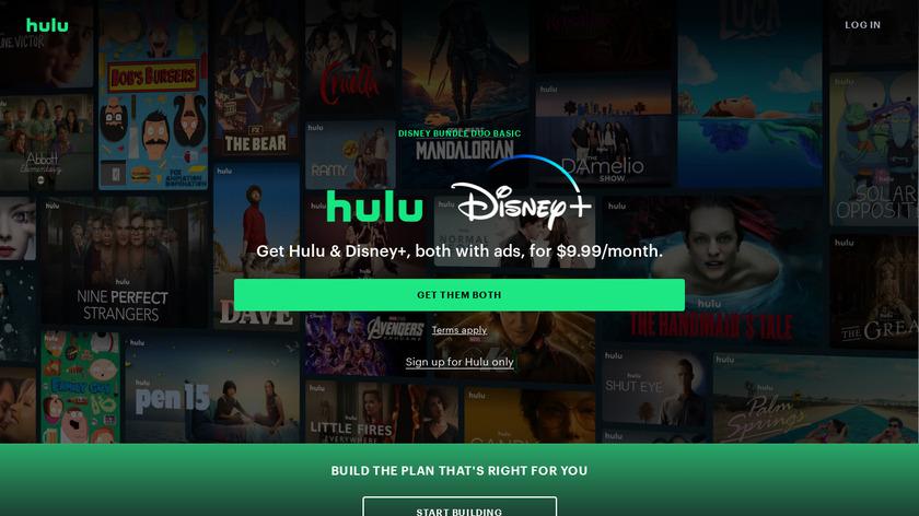 Hulu Landing Page