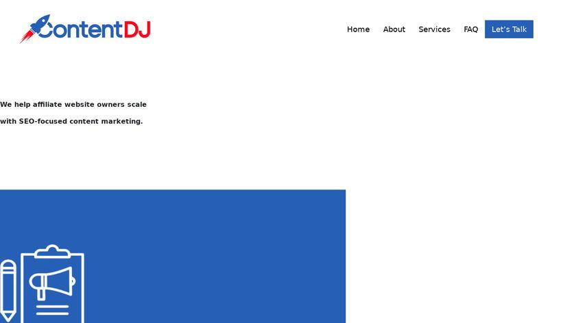 ContentDJ Landing Page