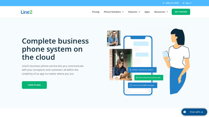 Line2 Landing Page