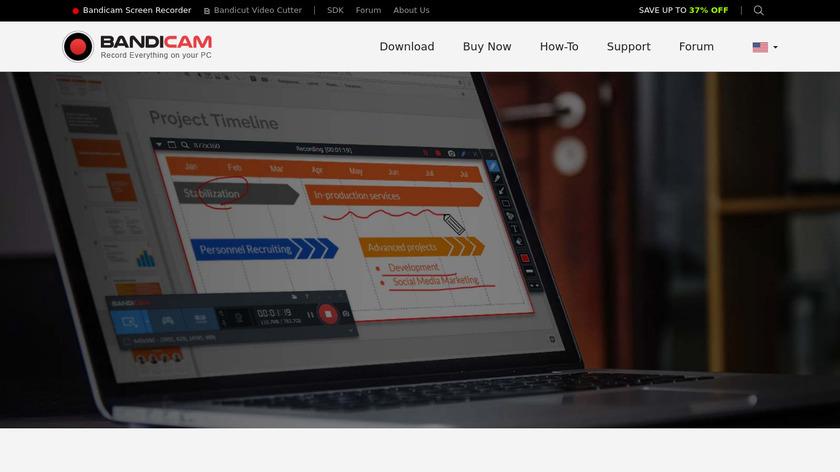 BandiCam Landing Page