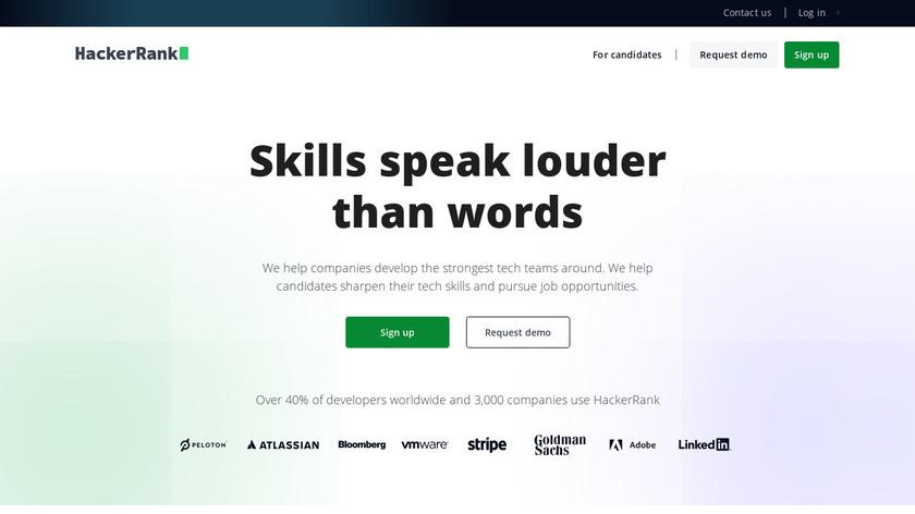 hackerrank.com Landing Page