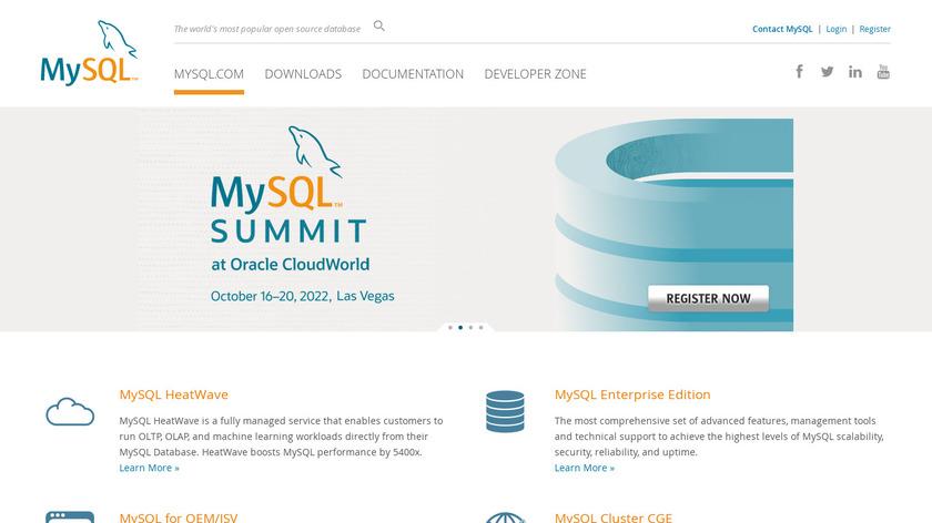 MySQL Landing Page