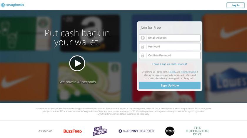 Swagbucks Landing Page