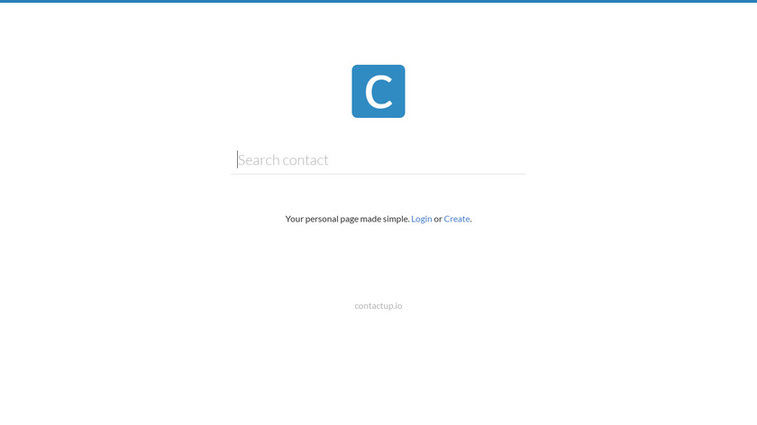 ContactUp Landing Page