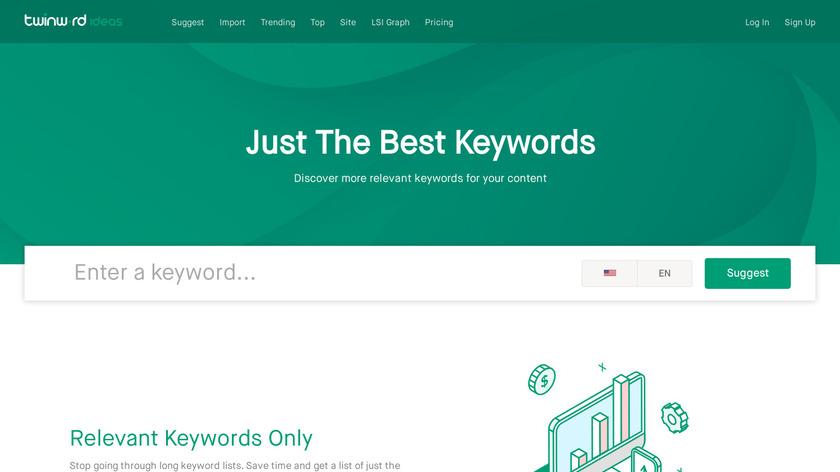 Twinword Ideas Landing Page