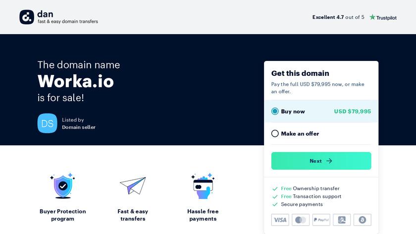 Worka Landing Page