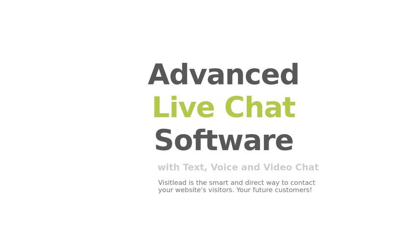 Visitlead Live Chat Landing Page