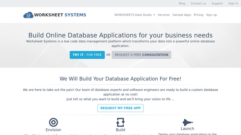 Worksheet Systems Landing Page