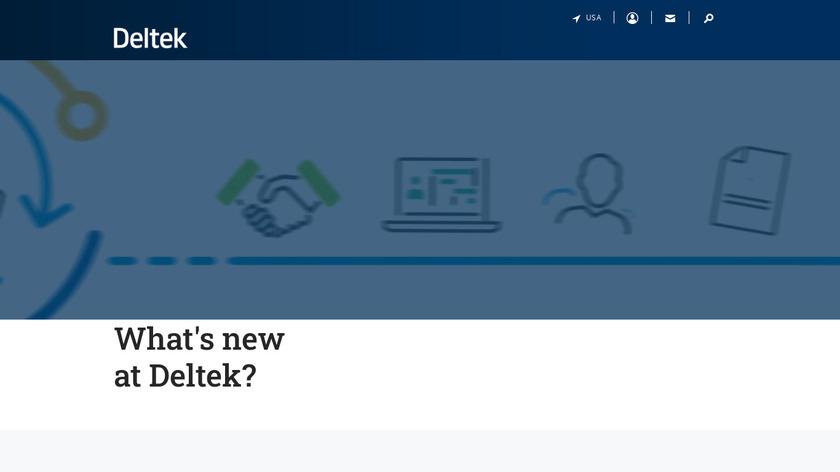 Deltek Vision Landing Page