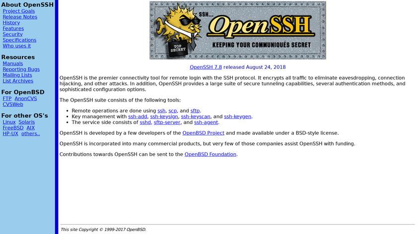 OpenSSH Landing Page