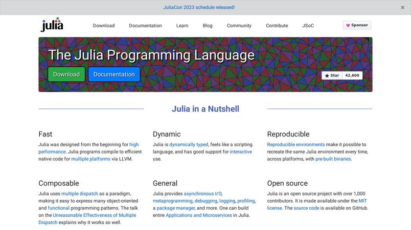 Julia Landing Page