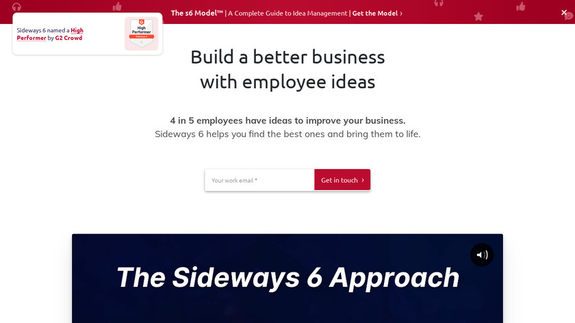 Sideways 6 Landing Page