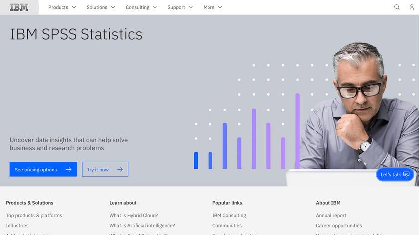 IBM SPSS Statistics Landing Page