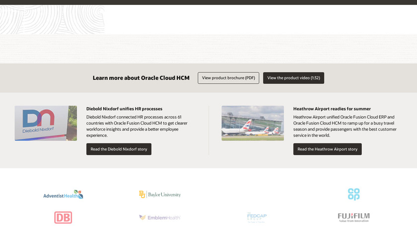 Oracle HCM Cloud Landing Page