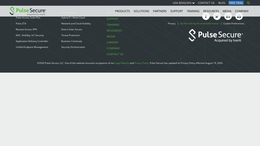 Pulse Secure Landing Page