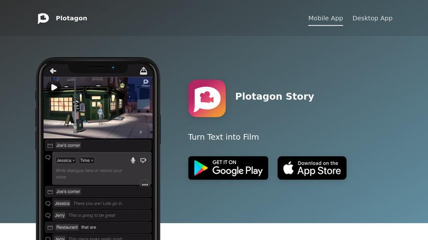 Plotagon Landing Page