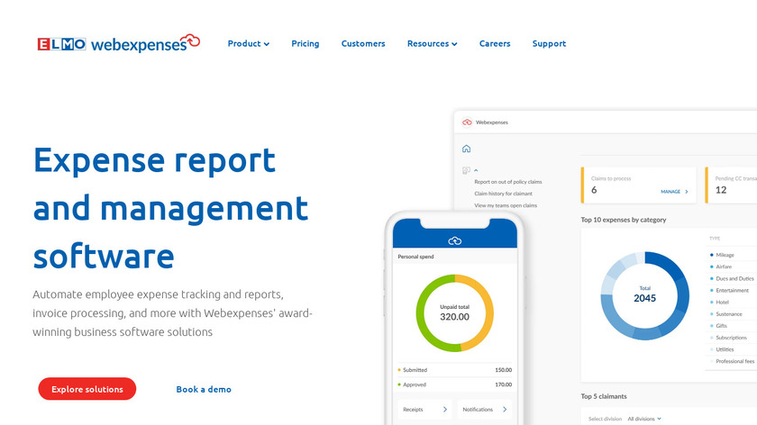 webexpenses Landing Page