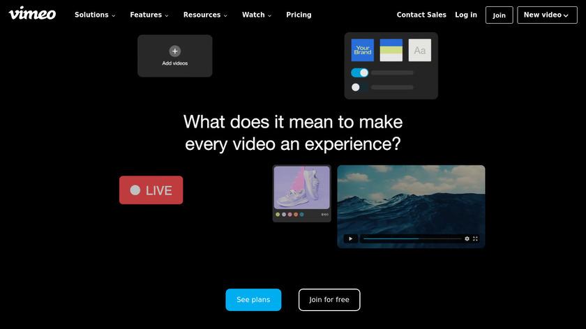 Vimeo Landing Page