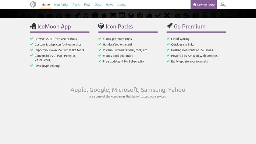 IcoMoon Landing Page