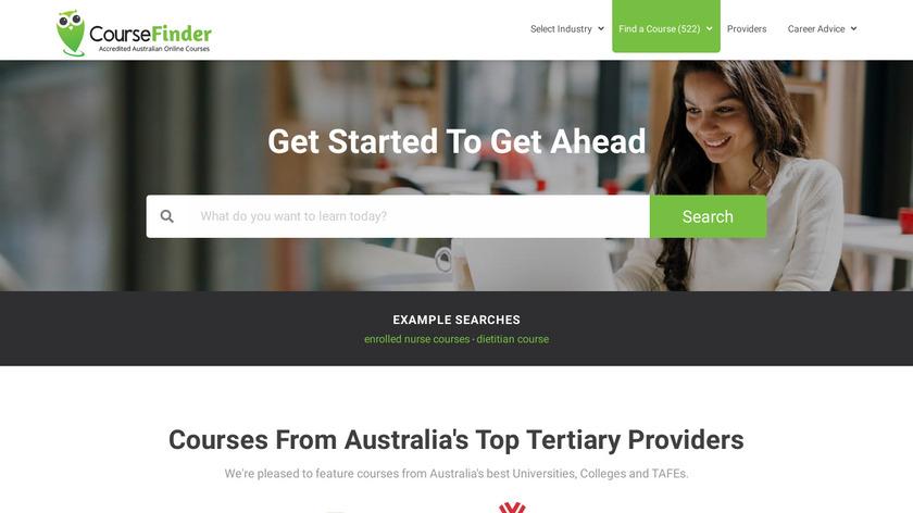 CourseFinder Landing Page
