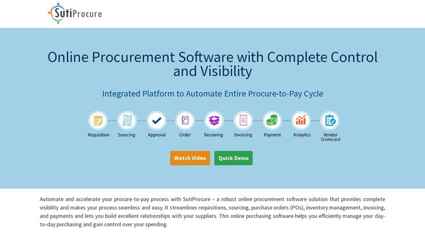 SutiProcure Landing Page