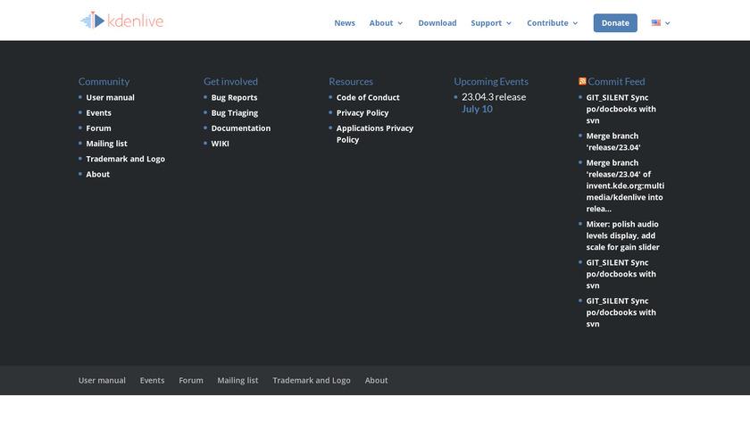Kdenlive Landing Page