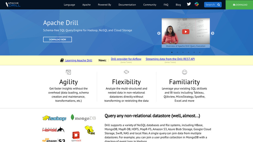 Apache Drill Landing Page
