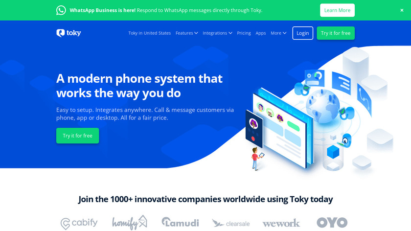 Toky Landing Page