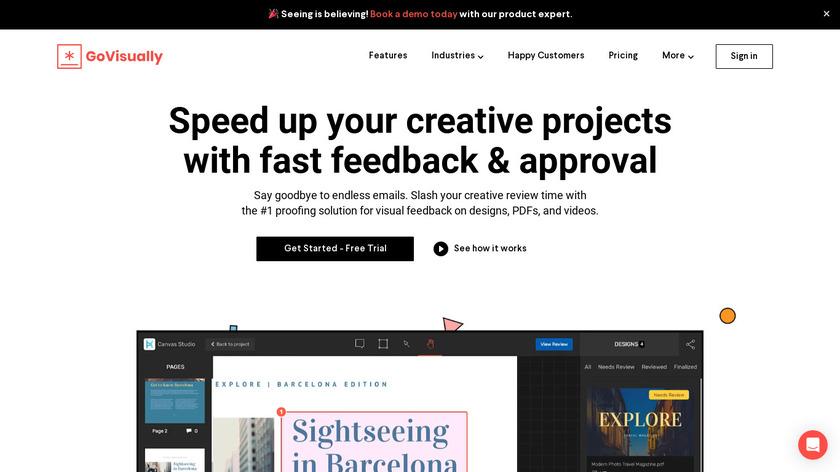 GoVisually Landing Page