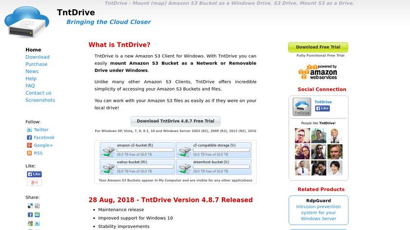 TntDrive Landing Page