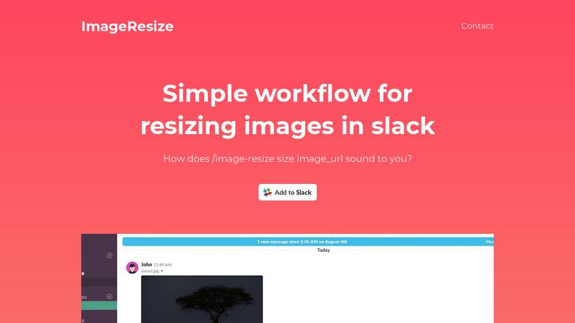 ImageResize.xyz Landing Page