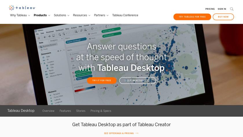 Tableau Desktop Landing Page