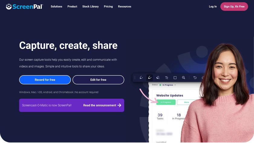 Screencast-O-Matic Landing Page