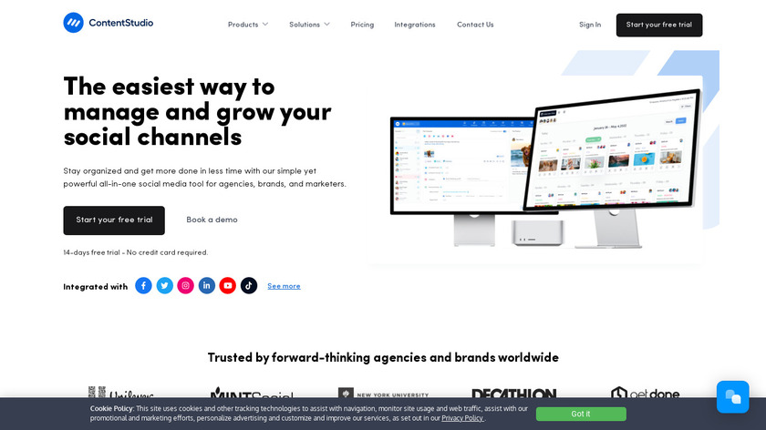 ContentStudio Landing Page