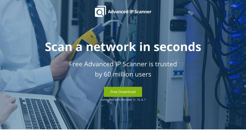 Advanced IP Scanner Landing Page