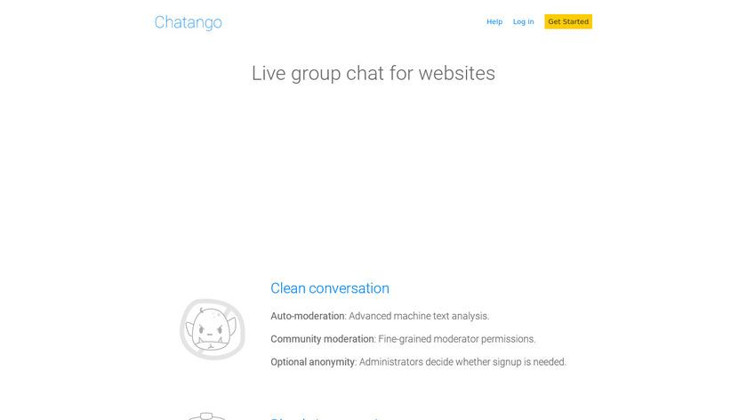 Chatango Landing Page