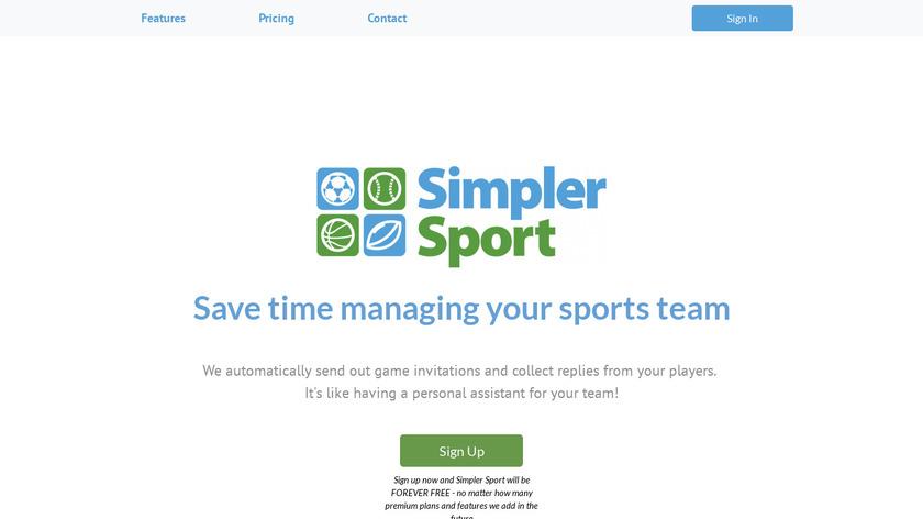 Simpler Sport Landing Page
