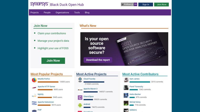Open HUB Landing Page