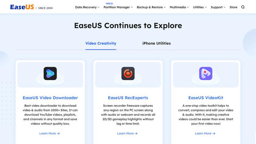EaseUS ToDo BackUp Landing Page