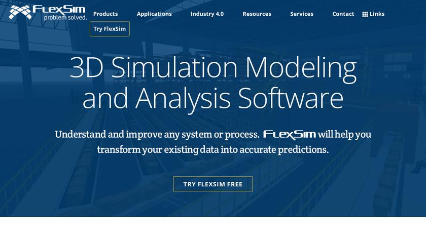 FlexSim Landing Page